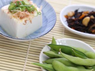 枝豆と豆腐とひじき