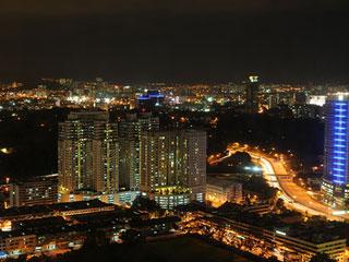 マレーシアの都市夜景
