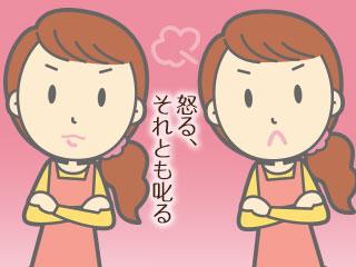 表情の違う2対の女性