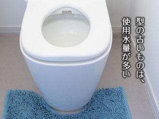 型の古い水洗トイレ