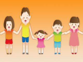 年齢の異なる子供たち