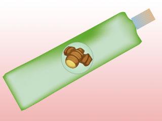 チューブ型の生姜