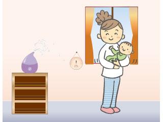 子供部屋に加湿器