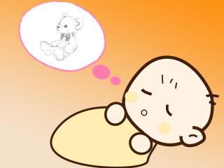 夢を見ている眠る赤ちゃん