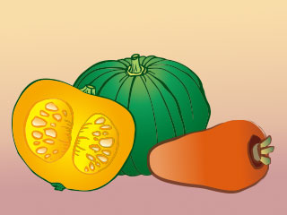 かぼちゃ、ニンジン