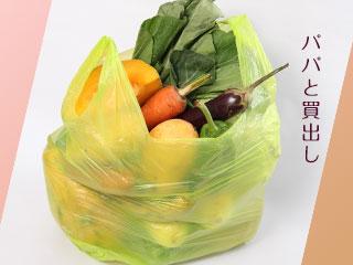 買物袋に一杯に詰められた野菜