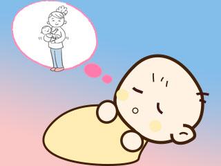 日中の出来事を夢で見る赤ちゃん