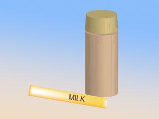 ポットとスティックミルク