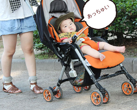 【夏】赤ちゃんの散歩の必須アイテム/時間帯など紫外線・熱中症対策8