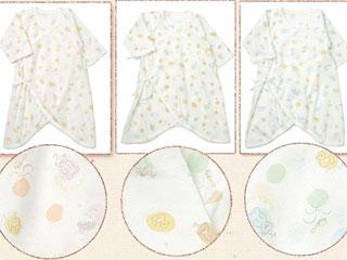 愛情設計【日本製】フライスサボンプリントコンビ肌着(50~60cm)