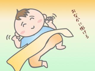 寝具を赤ちゃんのお腹に掛ける
