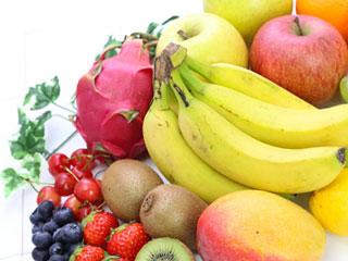 バナナ、キューイなどの果物