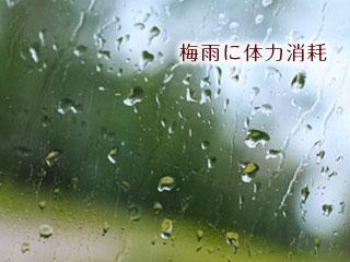 雨に濡れたガラス窓