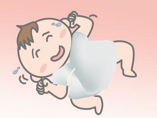 厚着の赤ちゃん