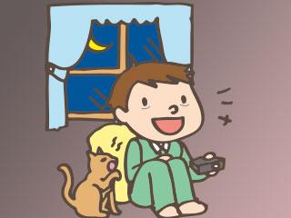 ゲームで夜更かしする子供