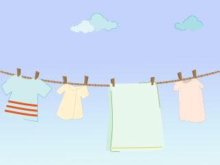 外で干される洗濯物
