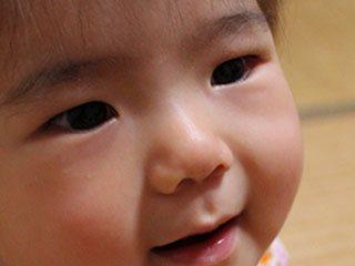 ふっくらした子供の顔