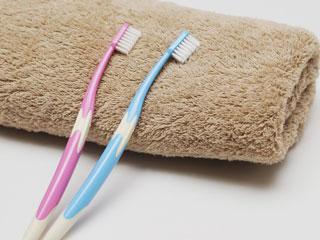 歯ブラシとフェイスタオル