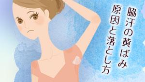 脇汗の黄ばみの原因4つ&ワキガとの違い/簡単な落とし方