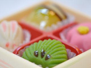 小分けされた和菓子
