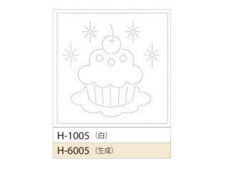 花ふきんH-6005(生成)カップケーキ
