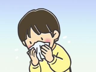 鼻をかむ子供