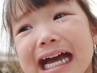 泣き顔の女の子