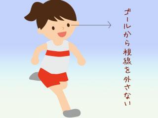 走る子供の視線