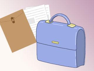 書類とバッグ
