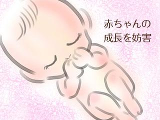 胎児の成長を妨害