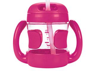 ハンドル付ストローカップ(ピンク)