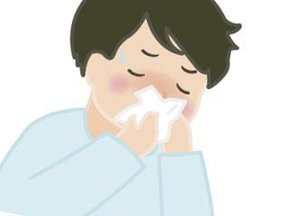 鼻水をかむ子供