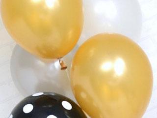 パーティーバルーン5P ブラックゴールド    5枚パック