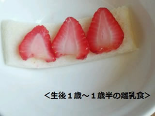 生後1歳から1歳半のいちごの離乳食
