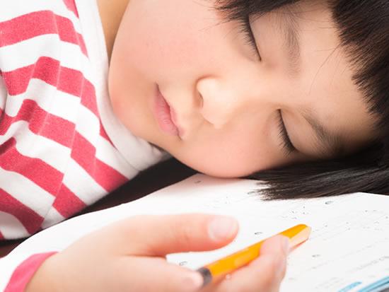 宿題中に寝落ちする一人っ子