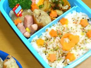 色鮮やかな幼稚園のお弁当