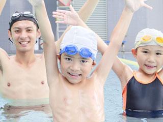 水泳教室の子供達