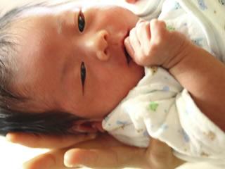 毛布に包まれた生まれたての新生児