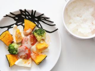 野菜とご飯の離乳食