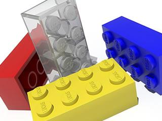 レゴの形をしたお風呂収納