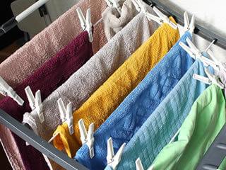かなりの洗い残しがあるタオル