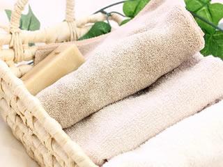 生活必需品のタオルと石鹸