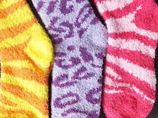 冬に大活躍するもこもこの靴下