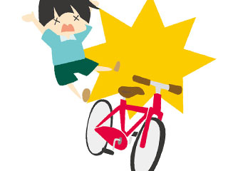 ぶつかってくる子供の自転車