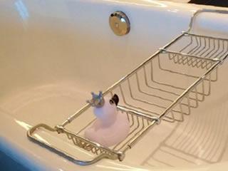 健康美容効果の高い半身浴の準備風景
