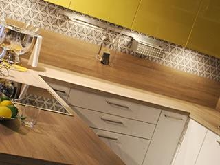欧米風の黄色を基調としたオシャレなキッチン