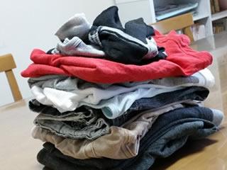 産後家事で旦那が手伝った洗濯物