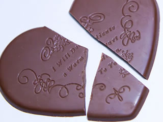 3年目の結婚生活の変化を表しているチョコレート