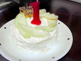 水切りヨーグルトのケーキ