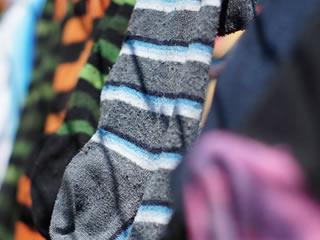 お掃除に使う雑巾に早変わりする履き潰した靴下